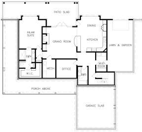 Unfinished Basement Layout for House Plan #699-00110