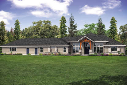 3 Bed, 3 Bath, 3413 Square Foot House Plan - #035-00821