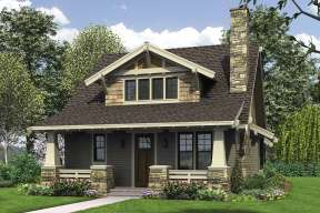 Bungalow  House Plan #2559-00748 Elevation Photo