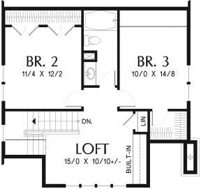 Second Floor for House Plan #2559-00748