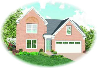 3 Bed, 2 Bath, 1732 Square Foot House Plan - #053-00011