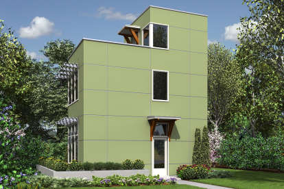 1 Bed, 1 Bath, 728 Square Foot House Plan - #2559-00759