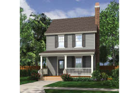 Colonial House Plan #2559-00771 Elevation Photo