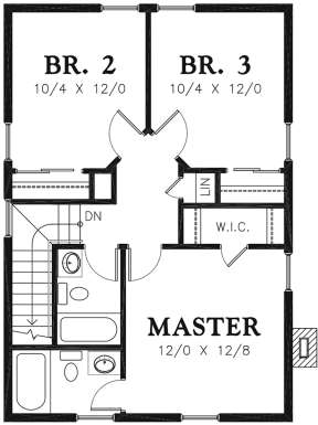 Second Floor for House Plan #2559-00771
