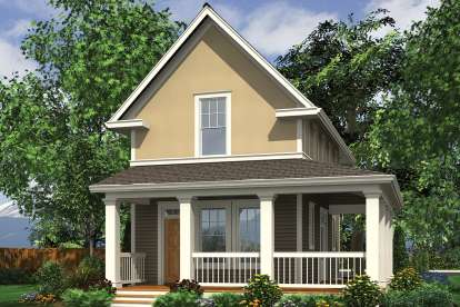 2 Bed, 2 Bath, 1076 Square Foot House Plan - #2559-00773