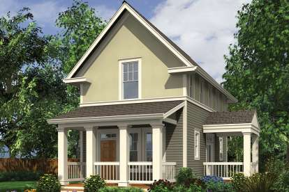 2 Bed, 2 Bath, 1076 Square Foot House Plan - #2559-00774