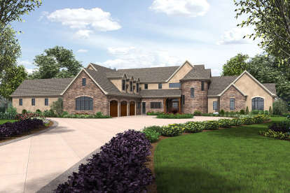 4 Bed, 4 Bath, 7149 Square Foot House Plan - #2559-00779