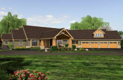 4 Bed, 4 Bath, 4339 Square Foot House Plan - #2559-00792
