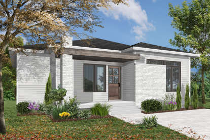 1 Bed, 1 Bath, 1178 Square Foot House Plan - #034-01144