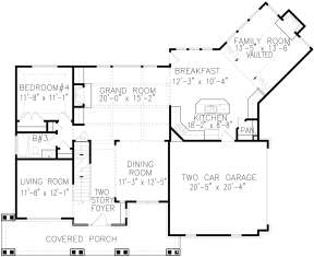 Main Floor for House Plan #699-00121