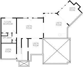 Basement for House Plan #699-00121