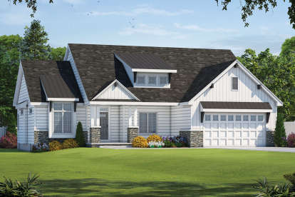 3 Bed, 2 Bath, 1925 Square Foot House Plan - #402-01576