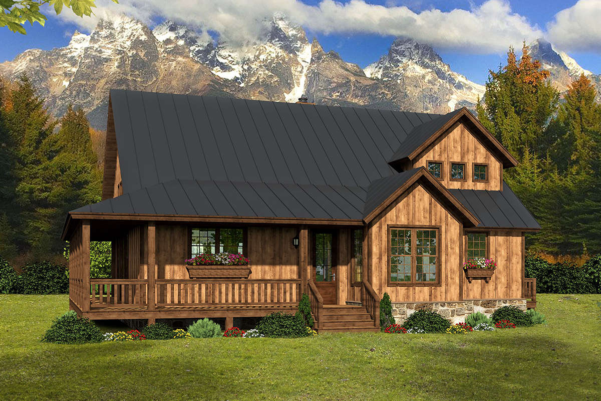 Cabin Plan: 2,100 Square Feet, 3 Bedrooms, 2.5 Bathrooms ...
