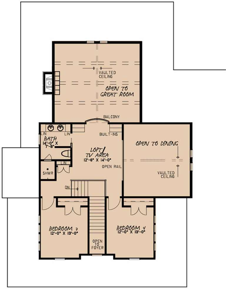 Second Floor for House Plan #8318-00103