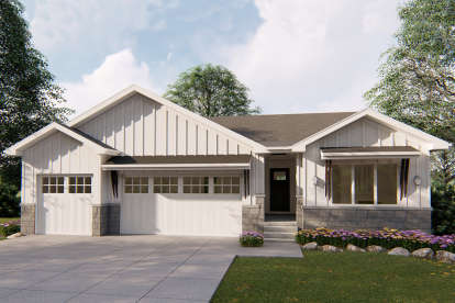 3 Bed, 2 Bath, 1804 Square Foot House Plan - #963-00327