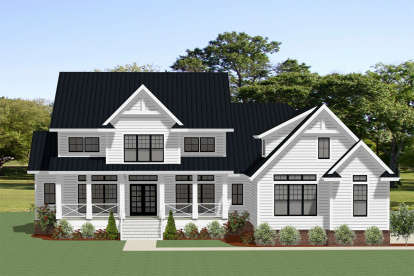 4 Bed, 3 Bath, 3830 Square Foot House Plan - #6849-00056