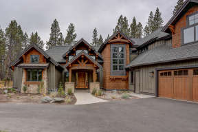 Mountain Rustic  House Plan #5829-00026 Elevation Photo