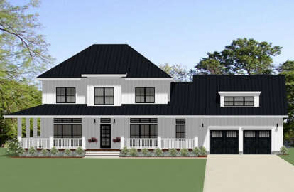 4 Bed, 3 Bath, 2737 Square Foot House Plan - #6849-00061