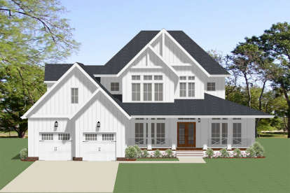 4 Bed, 4 Bath, 3208 Square Foot House Plan - #6849-00062