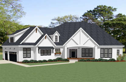4 Bed, 3 Bath, 3734 Square Foot House Plan - #6849-00066