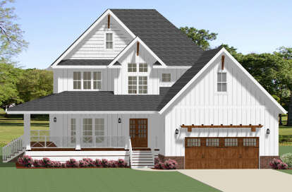 4 Bed, 4 Bath, 2902 Square Foot House Plan - #6849-00070