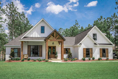4 Bed, 2 Bath, 041-00187 Square Foot House Plan - #041-00187