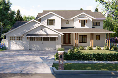 4 Bed, 4 Bath, 2687 Square Foot House Plan - #963-00329