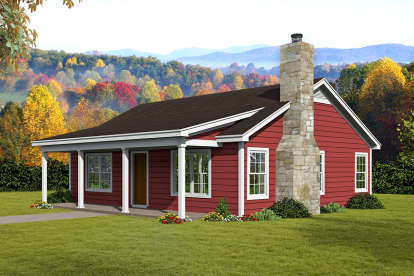 2 Bed, 1 Bath, 900 Square Foot House Plan - #940-00139