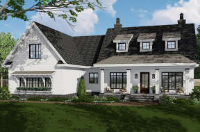 Modern Farmhouse House Plan #098-00309 Elevation Photo