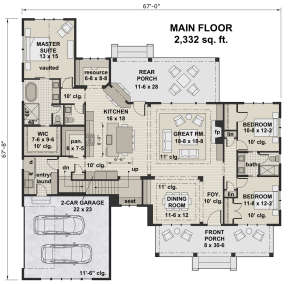 Main Floor for House Plan #098-00309