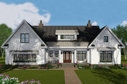 4 Bed, 3 Bath, 2514 Square Foot House Plan #098-00311