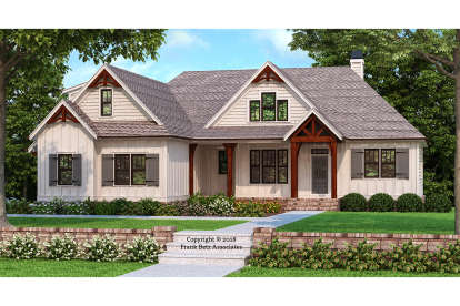 3 Bed, 2 Bath, 2187 Square Foot House Plan #8594-00001