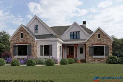 3 Bed, 2 Bath, 2073 Square Foot House Plan #8594-00003