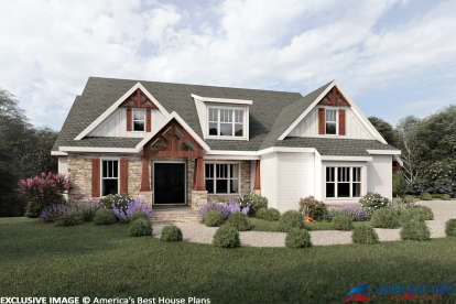 4 Bed, 3 Bath, 2601 Square Foot House Plan #8594-00006