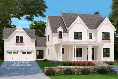 5 Bed, 4 Bath, 3210 Square Foot House Plan - #8594-00010
