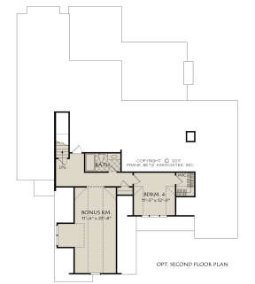 Optional Second Floor for House Plan #8594-00013