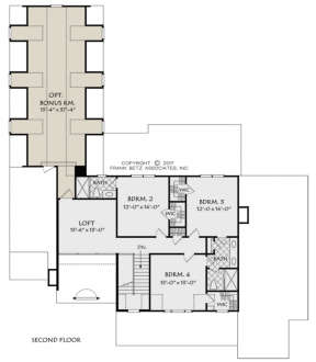 Second Floor for House Plan #8594-00014