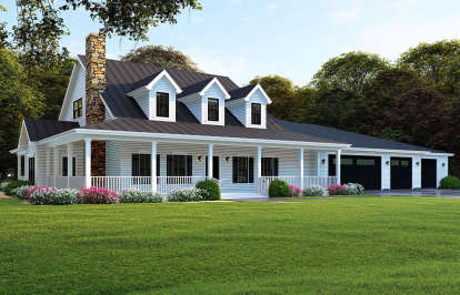 4 Bed, 4 Bath, 3416 Square Foot House Plan #8318-00106