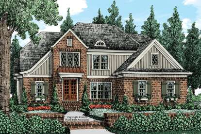 4 Bed, 3 Bath, 2413 Square Foot House Plan #8594-00021