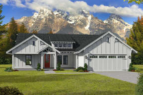 Modern Farmhouse House Plan #940-00144 Elevation Photo
