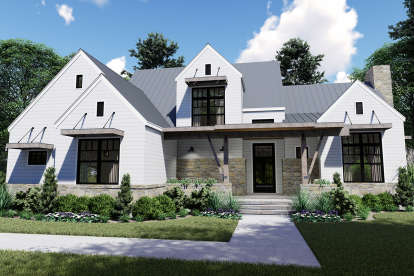 4 Bed, 3 Bath, 2828 Square Foot House Plan - #9401-00099