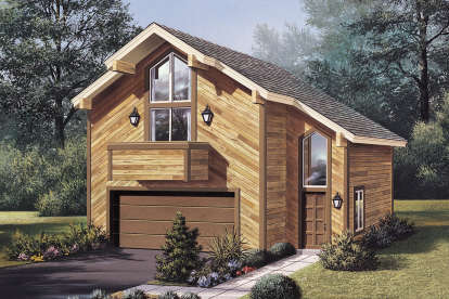 1 Bed, 1 Bath, 654 Square Foot House Plan - #5633-00369