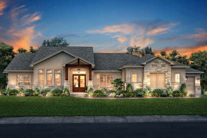 3 Bed, 2 Bath, 2920 Square Foot House Plan #041-00188