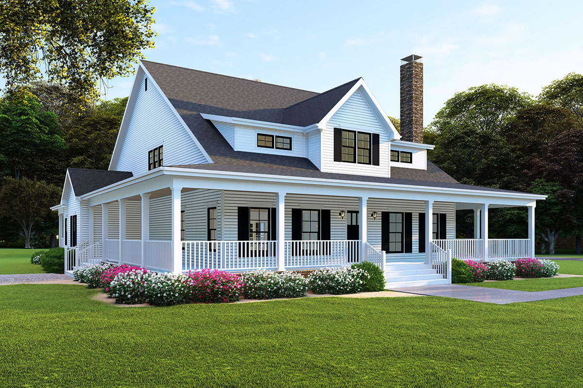Modern Farmhouse Plan: 3,474 Square Feet, 4 Bedrooms, 4 ...