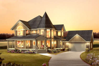 4 Bed, 2 Bath, 2560 Square Foot House Plan #5633-00385