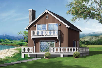 5 Bed, 2 Bath, 1344 Square Foot House Plan - #5633-00413