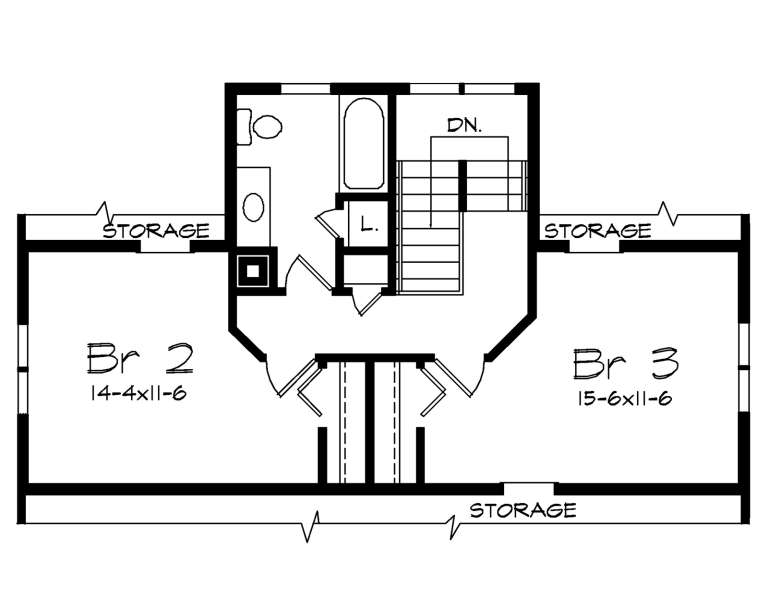 Second Floor for House Plan #5633-00423