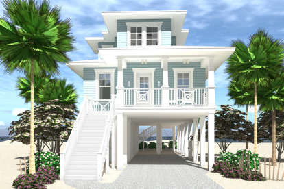 4 Bed, 4 Bath, 1672 Square Foot House Plan #028-00161