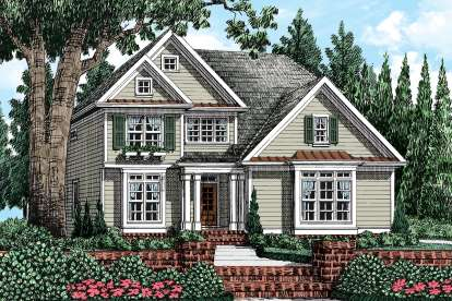 4 Bed, 2 Bath, 2077 Square Foot House Plan - #8594-00036