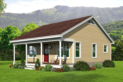 1 Bed, 1 Bath, 676 Square Foot House Plan #940-00149
